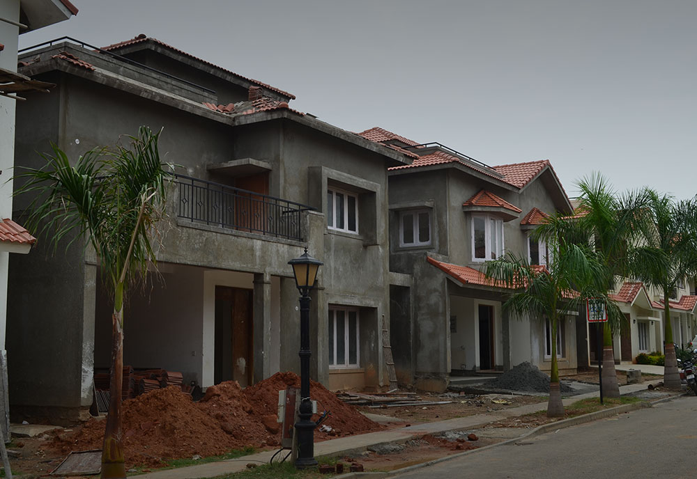 Adarsh Palm Retreat Villas Construction