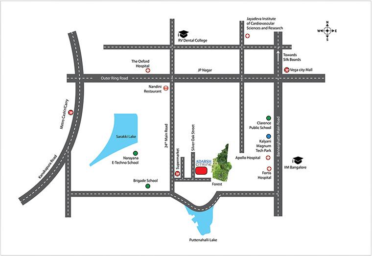 Adarsh Citrine Location Map