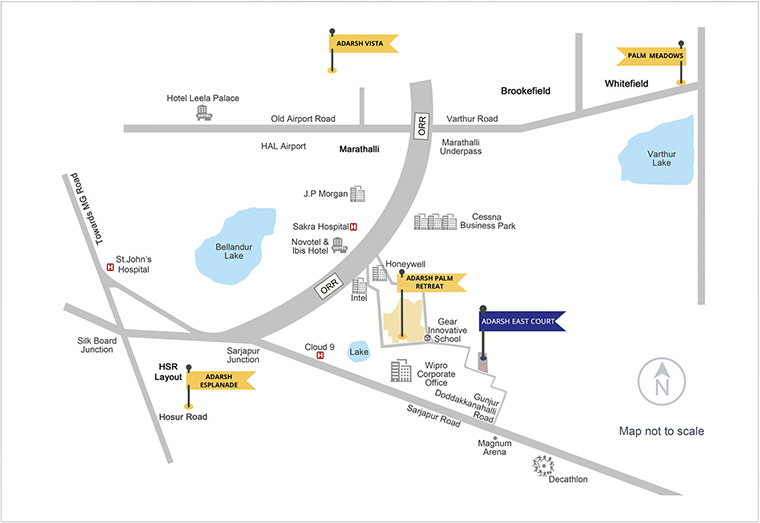 Adarsh Esplanade Location Map