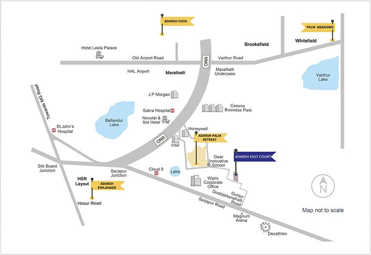 Adarsh Esplanade Location Map