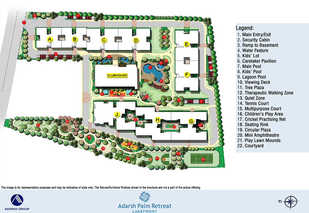 Adarsh Palm Retreat - Lakefront