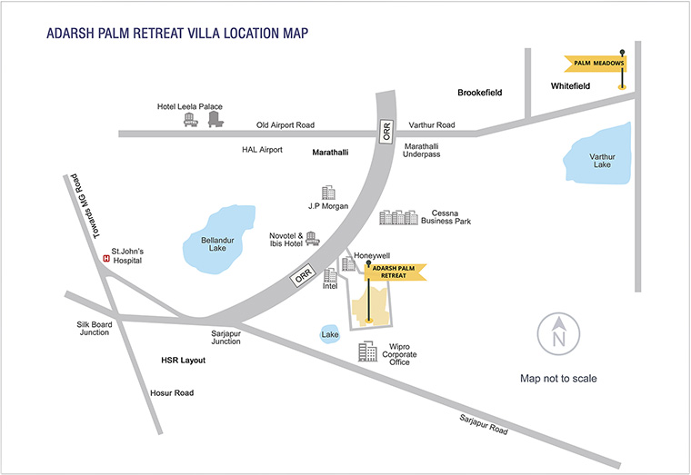Adarsh Palm Retreat Villas Location Map