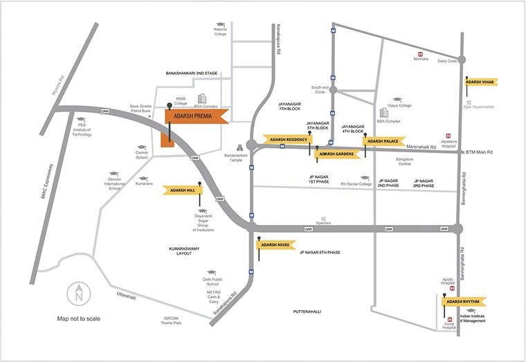 Adarsh Vihar Location Map