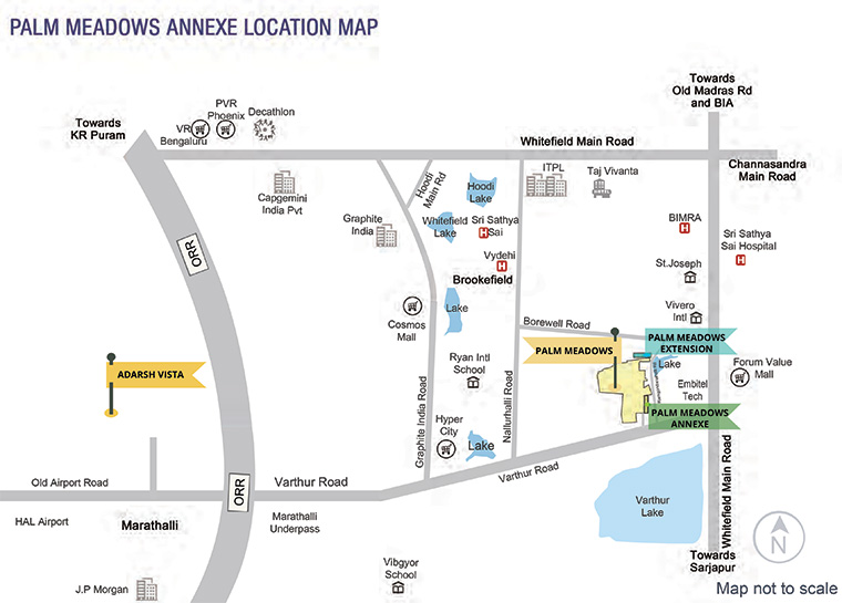 Palm Meadows Location Map